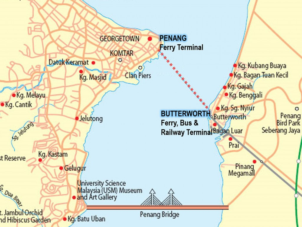 Penang Ferry Map