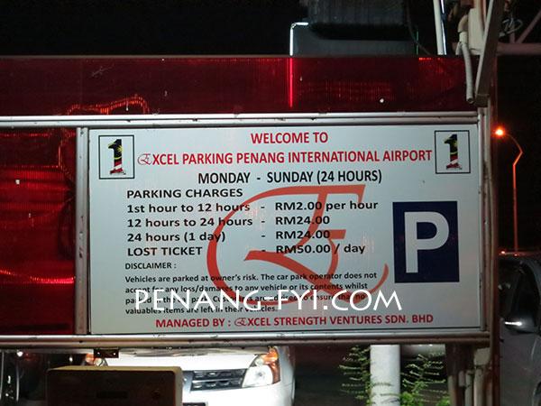 Penang-Airport-Parking-Rate